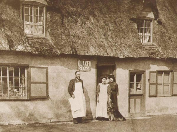 4.1905 John Burton ,Lily & Polly outside Village Shop copy