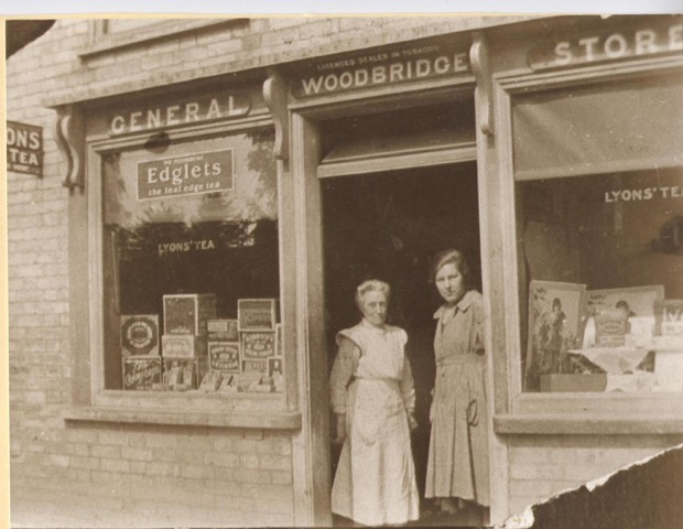 9.Mrs.Woodbridge- Shopkeeper c.1914.Assistant Alice Clark